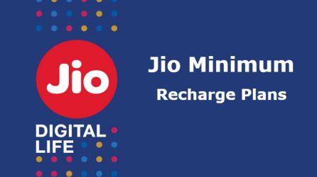 Jio Minimum Recharge plan