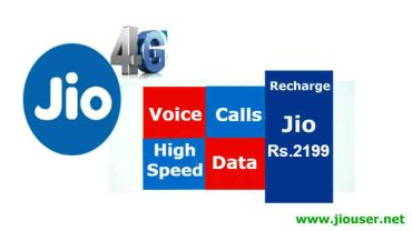 Jio Rs 2199 recharge