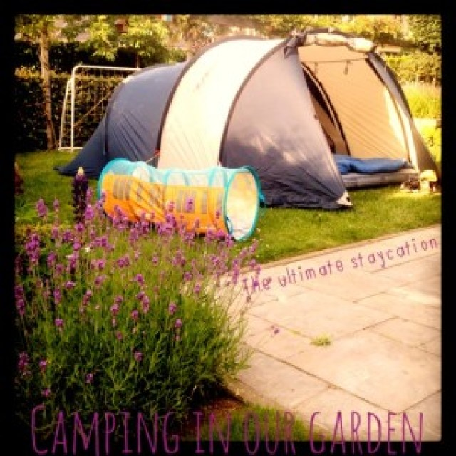 Stay at home vacation: camping in our garden Jip by Jan
