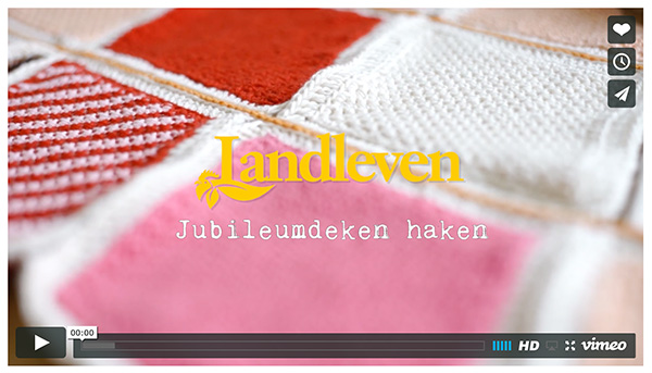 Landleven jubileumdeken haken video tutorial