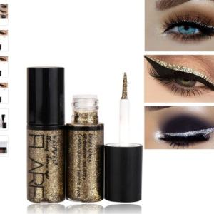 Women Pigment Silver Rose Gold Color Liquid Glitter Eyeliner Cheap Makeup