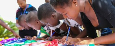 Jitegemee Students attend #LifeInMyShoes camp