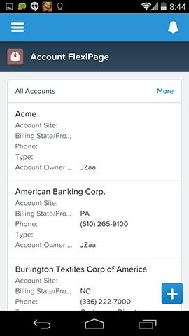 Flexipage Components in Salesforce1