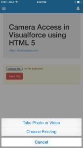 Visualforce Camera Access - Use Camera Prompt