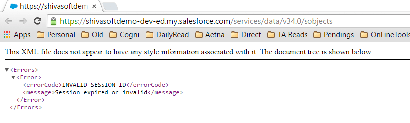 Salesforce REST API without SessionId