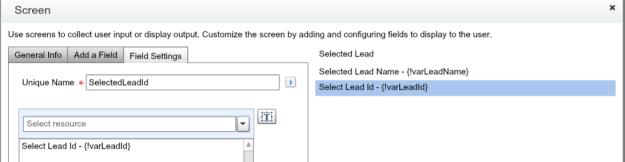 Display variable on flow screen