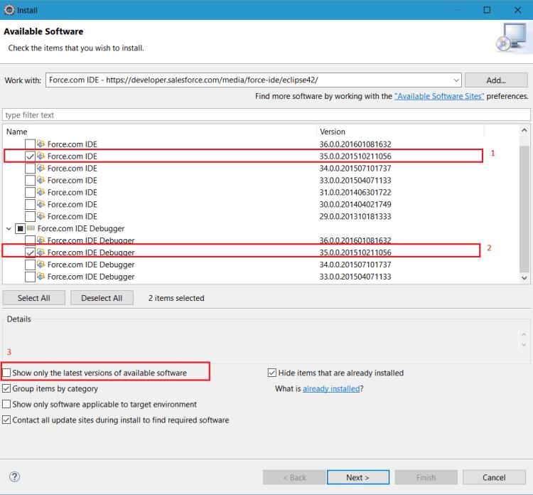 Resolve Salesforce Force.com IDE error