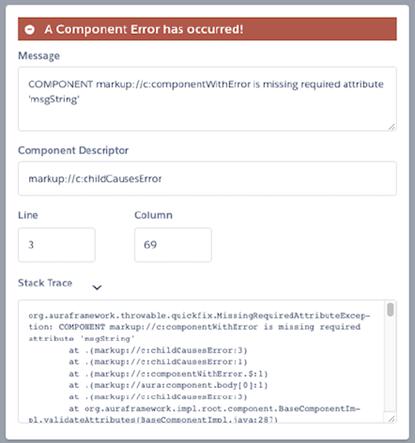 Salesforce Lightning Component error Message After Spring 17
