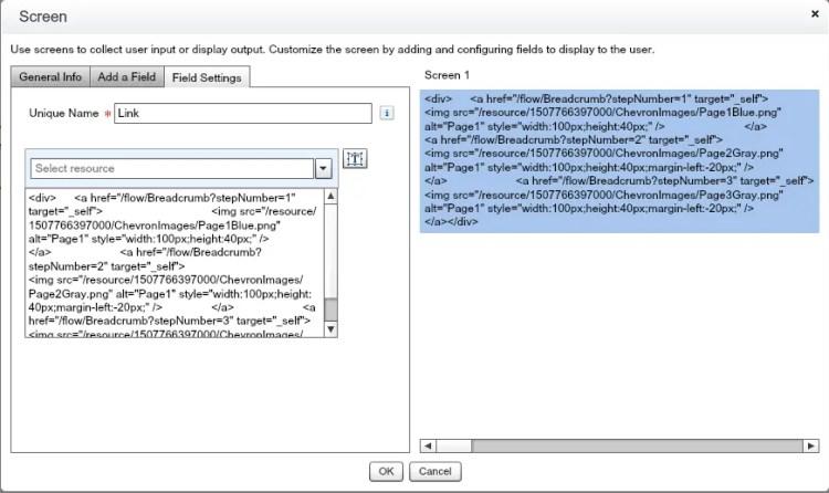 Salesforce Flow - Chevron Component - Sample Screen
