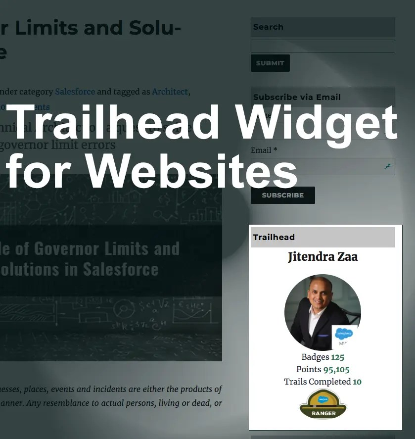 Trailhead Widget for websites