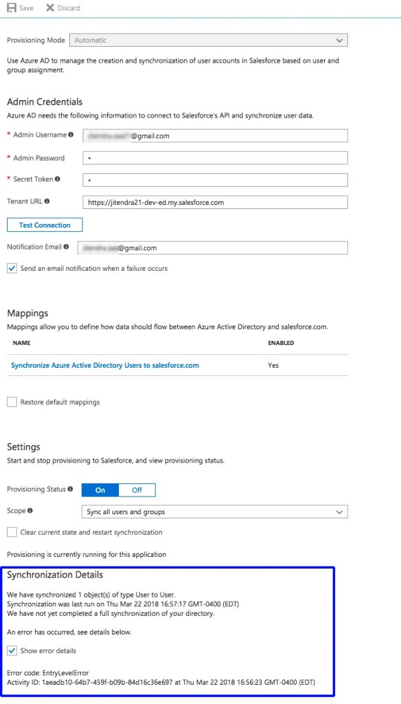 Microsoft Azure Active Directory User Provisioning