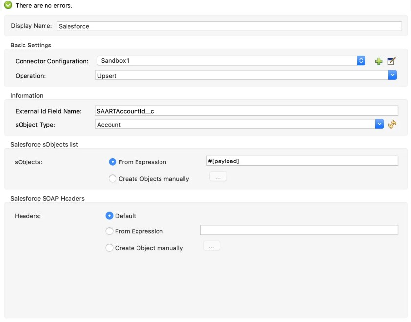 Configure Salesforce Connector in Mulesoft 3
