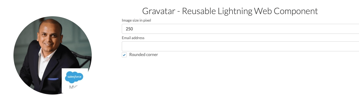 Gravatar – Reusable Lightning Web Component