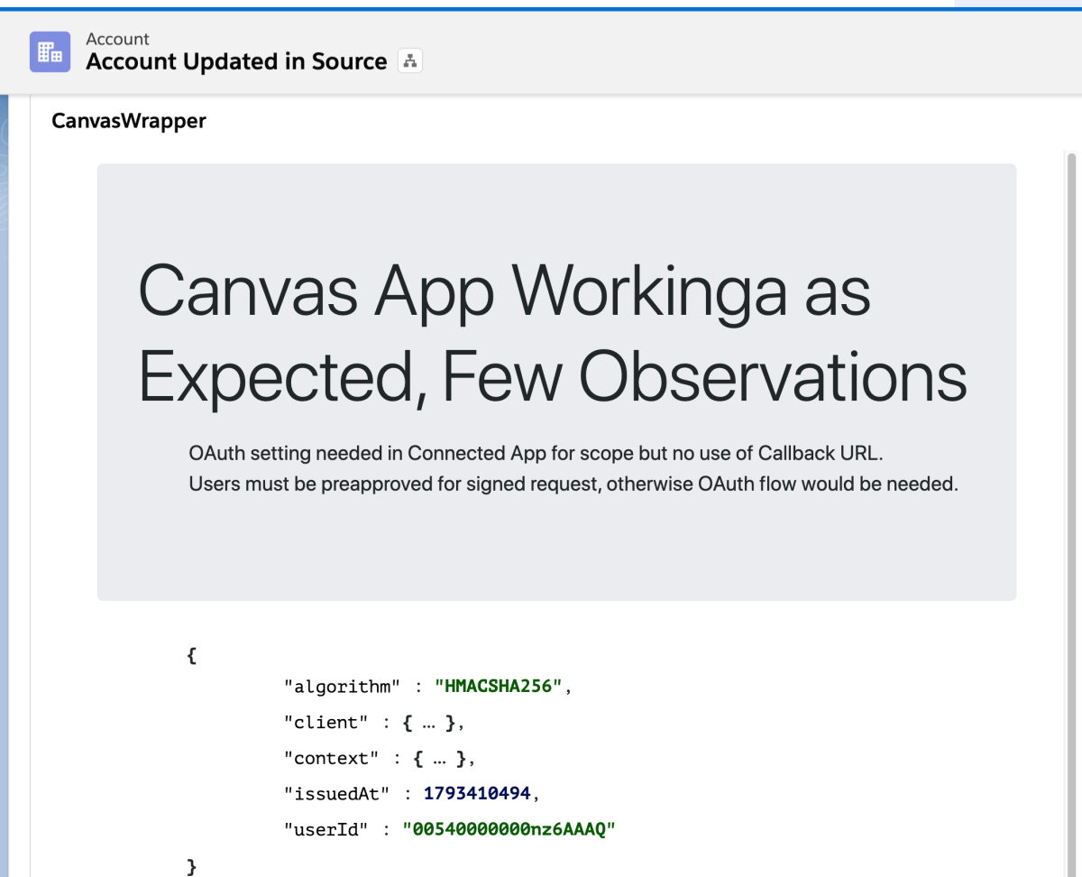 Salesforce Integration with Nodejs based applications using Canvas