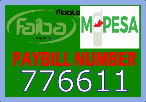 Faiba 4G paybill number