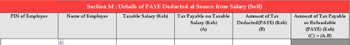 KRA income tax declaration