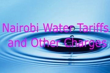 Nairobi Water tariffs and other charges