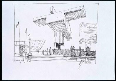 Oleg Chartschenko (*1948) Entwurf für die Olympischen Winterspiele in Sotschi 2014 2011 Papier, Filzstift 205 x 290