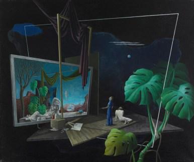 Ernst Maass, Nachts, in der Schlafstille, 1944 Öl auf Leinwand, 78 x 92 cm Aargauer Kunsthaus, Aarau / Depositum aus Privatbesitz