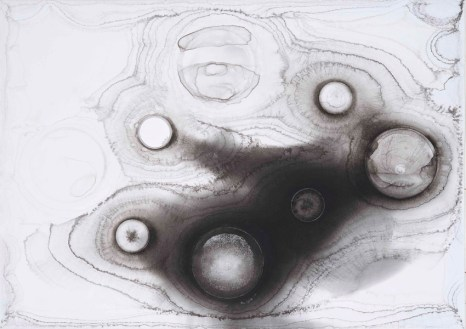 Micha Ullman, Tisch VII, 2010, Aquarell auf Papier, 70 x 100 cm , Courtesy ALEXANDER OCHS PRIVATE BERLIN