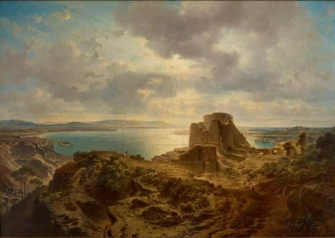 Fritz Bamberger, Albufera-See bei Valencia, 1862, Öl auf Leinwand, Museum im Kulturspeicher, Foto Klaus Bauer