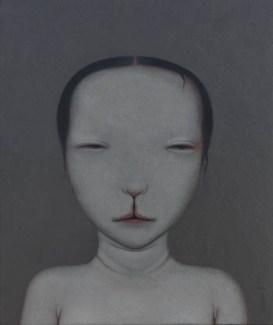 Shao Fan, Grandmother Rabbit, 2012 Öl auf Leinwand, 60 × 50 cm © Shao Fan and Galerie Urs Meile, Beijing-Luzern 2018