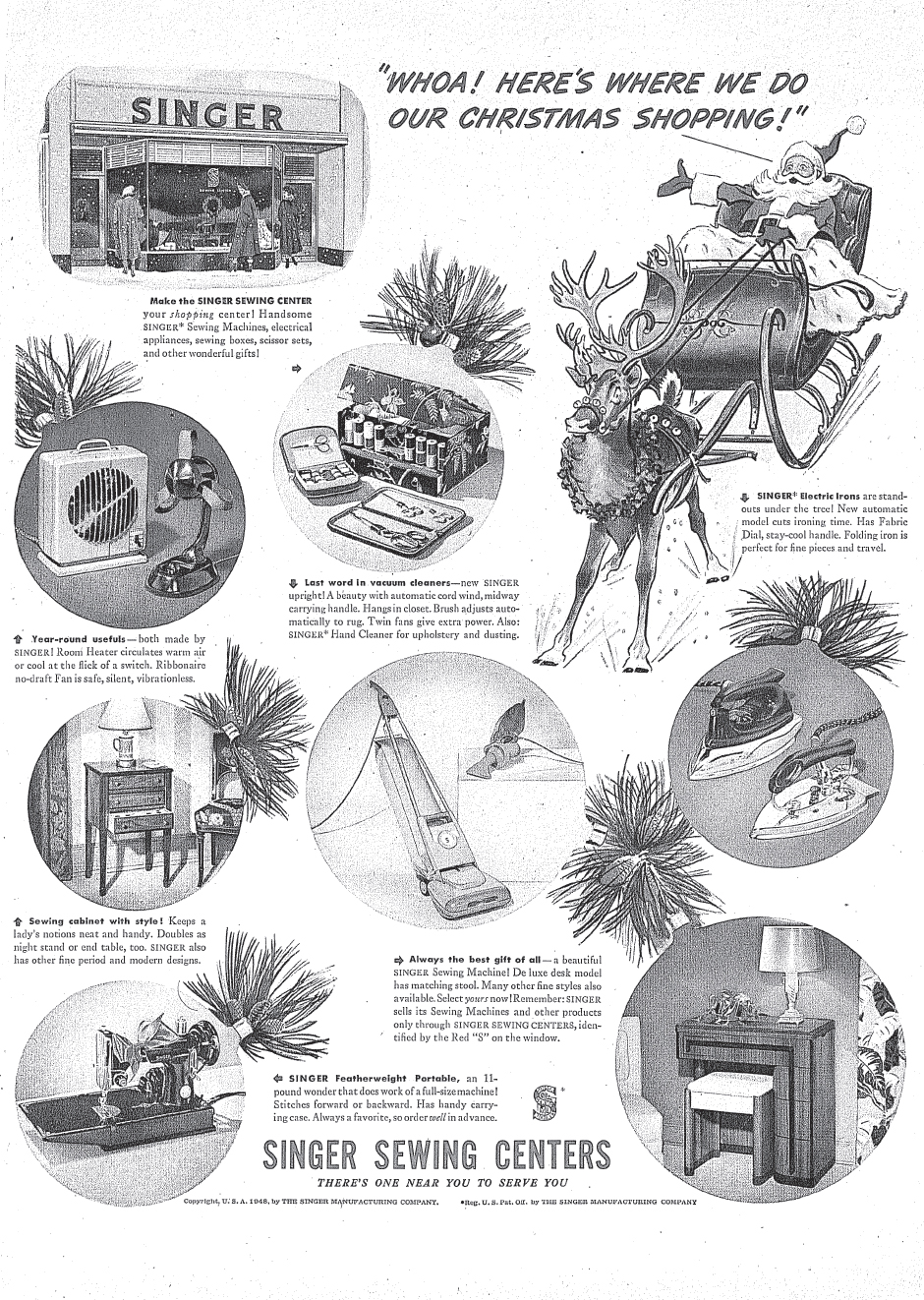 hight resolution of  ad for the singer art deco sewing machine