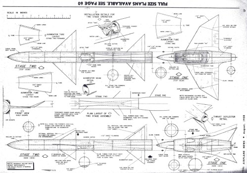 small resolution of  model airplane news august 1958 plans for two stage jetex rocket
