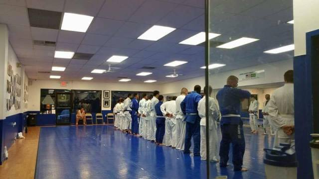 A packed class of new students at Ocean County BJJ--photo courtesy of Tom DeBlass