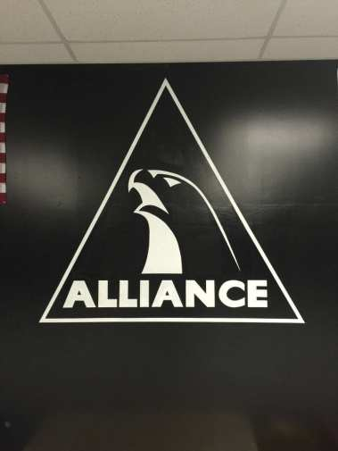 Alliance Logo at the academy.--Photo courtesy of Todd Shaffer