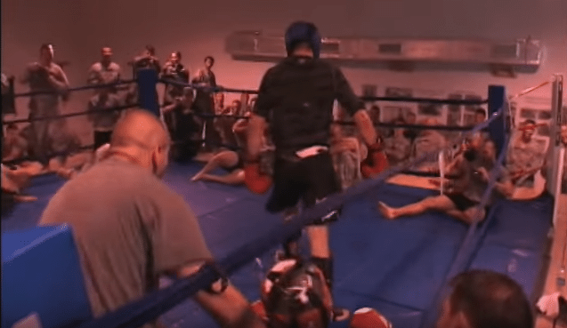 Carlos Condit Sparring With US Troops Ending With A Knockout