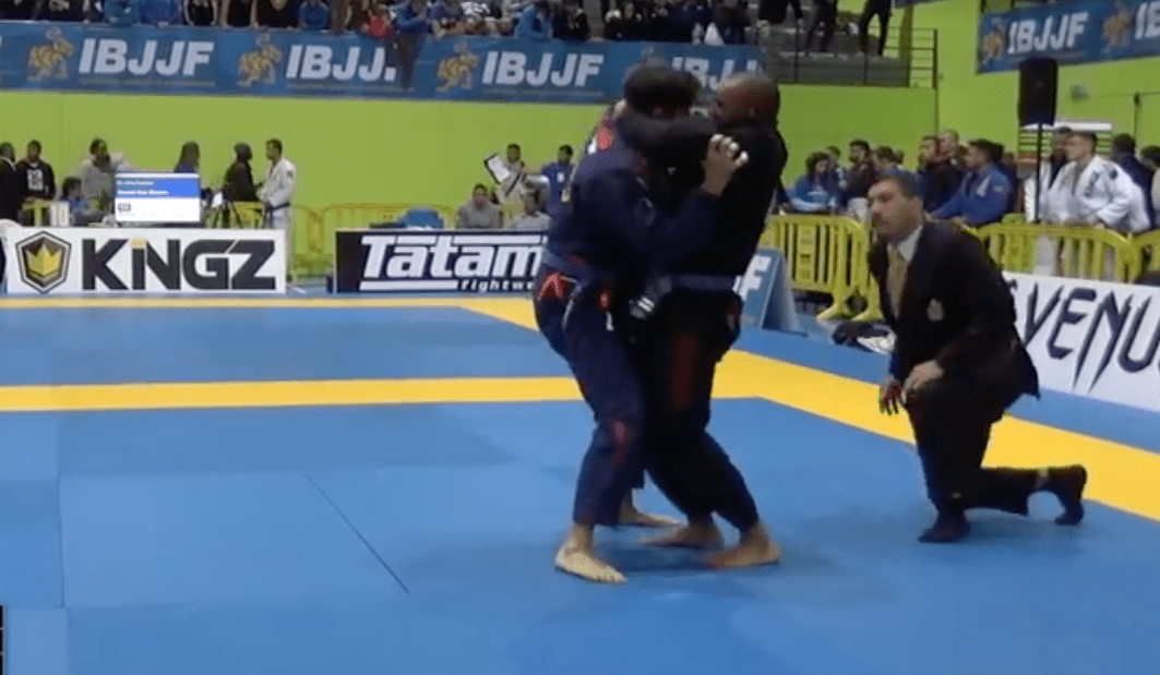 From Bottom To Standing Ezekiel Choke Puts Opponent To Sleep
