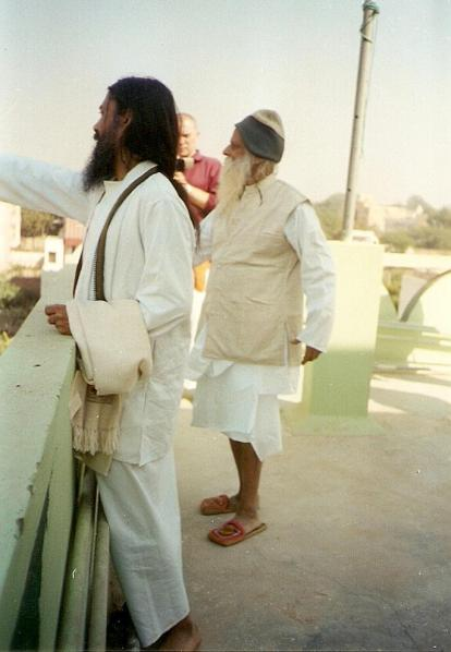 Satyanarayana dasa Babaji with Sri Haridas Sastri Maharaja