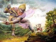 Battle between Vṛtrasura and Indra
