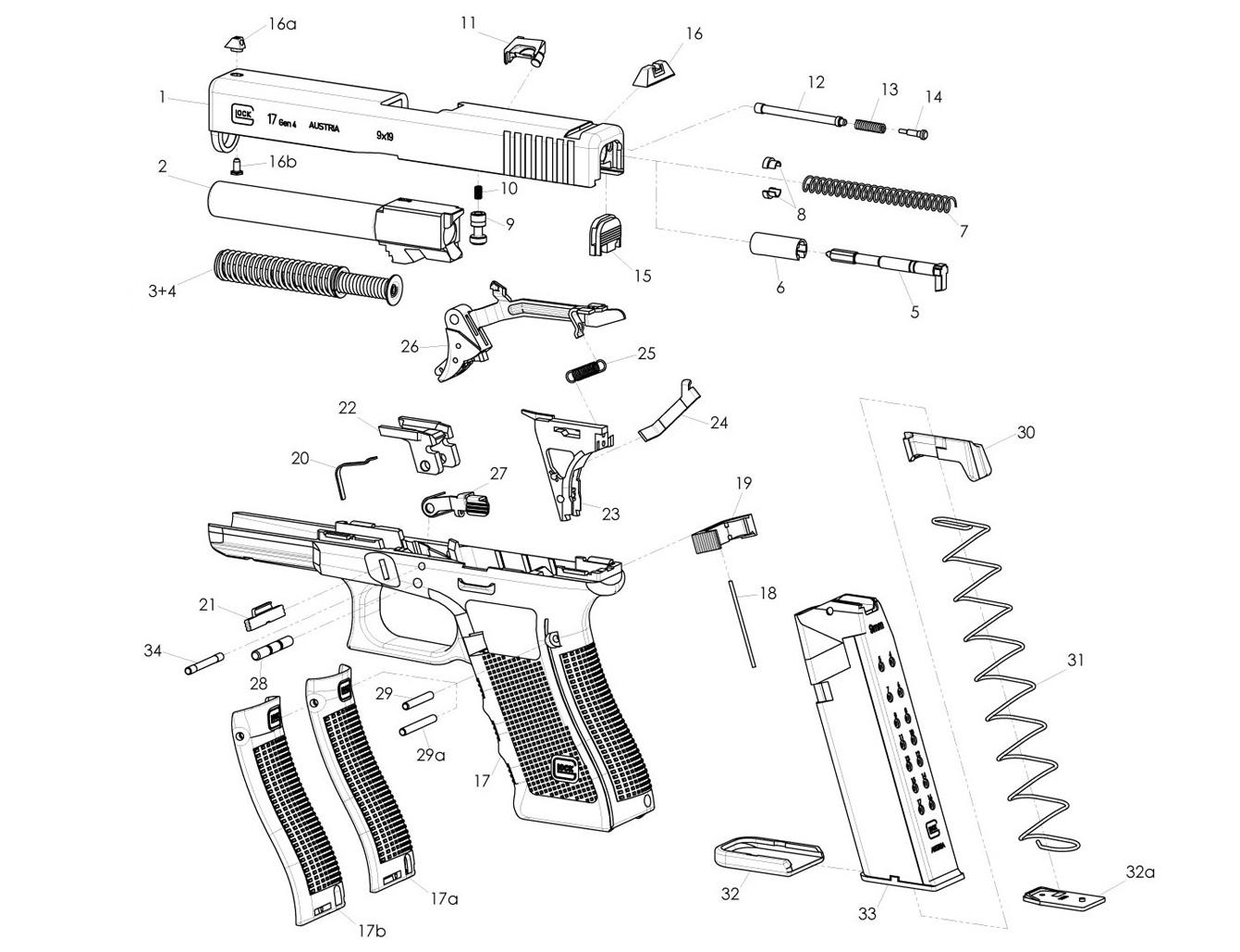 hight resolution of glock 19 parts diagram wiring diagram list glock schematic diagram moreover glock 17 parts diagram