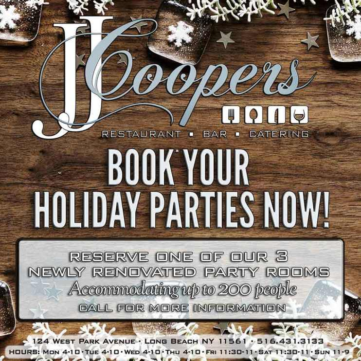 JJ Coopers restaurant Long Beach NY specials