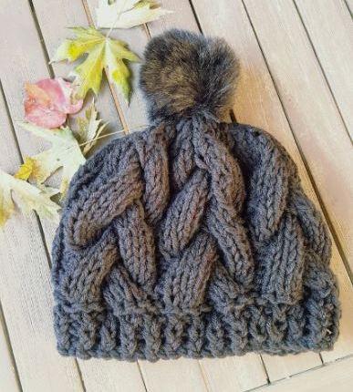 Chunky Knit Crochet Hats With Pom Poms Pattern Jjcrochet