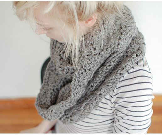 Chunky Circle Scarf by Lindsi