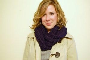 Crochet Cowl - Navy - JJCrochet