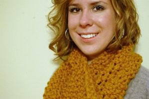 Crochet Cowl - Chunky Mustard - JJCrochet