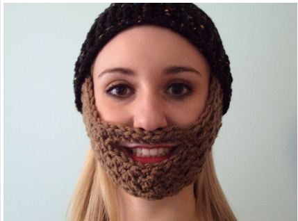 Crochet Beard Hat Pattern