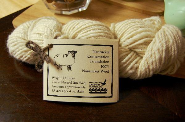 75 yards of Chunky, 100% Nantucket Wool yarn