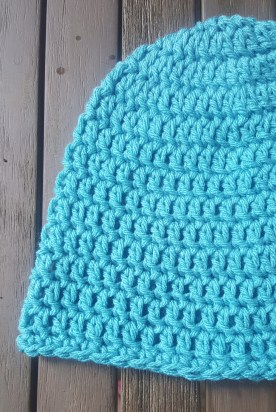 Crochet Men's Hat Close Up