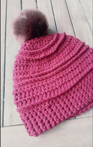 Chunky Knit & Crochet Hats with Pom-Poms Pattern - JJCrochet