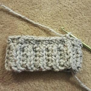 crochet hat band bottom up