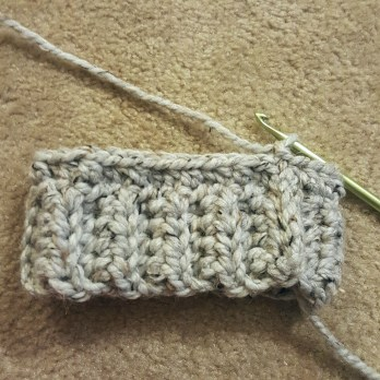 crochet hat band bottom up