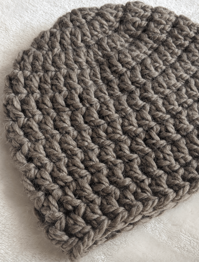 Free beginner crochet mens hat pattern