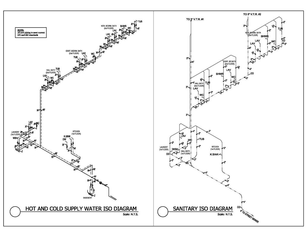 isometric piping diagram porsche 911 964 wiring plumbing water riser for
