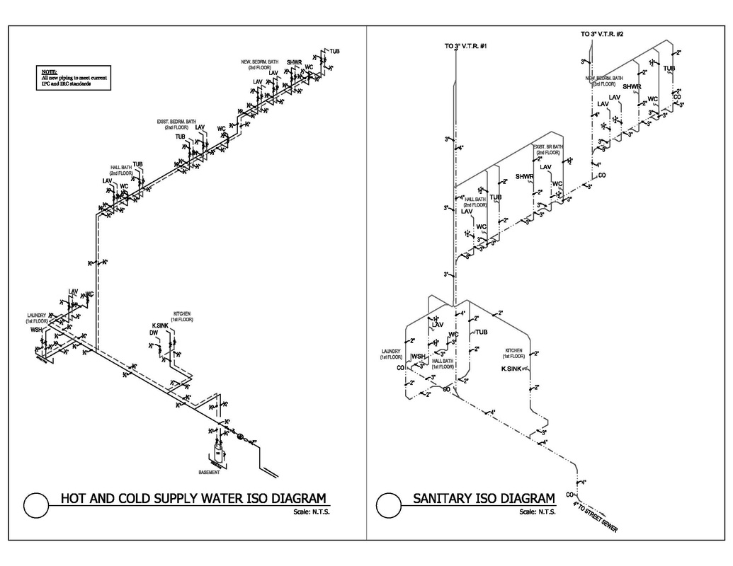 hight resolution of piping riser diagram