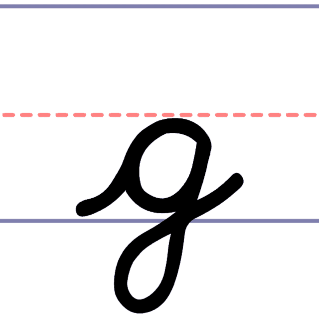 How to Write a Cursive Lowercase g